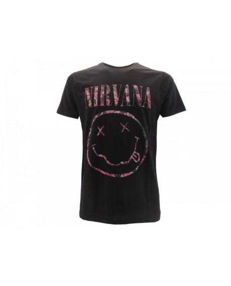 T-Shirt Nirvana Smile fiorato - RNI2