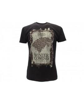 T-Shirt Trono di Spade L'inverno sta arrivando - TDS9.NR