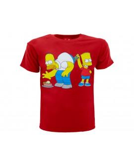 T-Shirt Simpsons Homer e Bart dollari - SIMSOL.RO