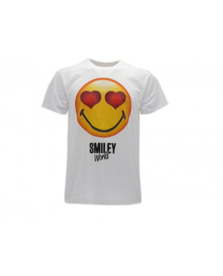 T-Shirt Smiley World Original Cuori - SMICUO.BI