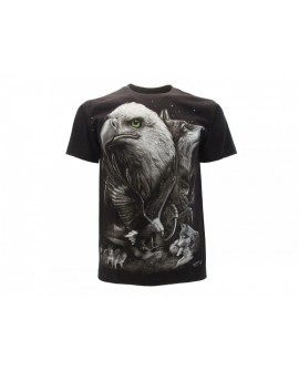 T-Shirt Animali Aquila e Lupo - ANAQ6