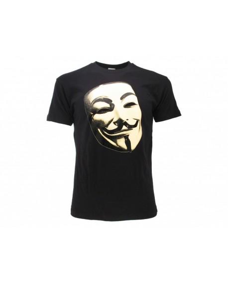 T-Shirt V per Vendetta Maschera - VPVMAS.NR