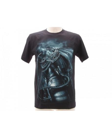 T-Shirt Animali Drago Nero - ANDRA2