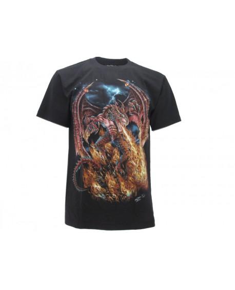T-Shirt Animali Drago Rosso - ANDRA4