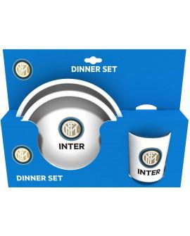 Set Gift piatto piano + fondo + bicchiere Inter - INTSET3
