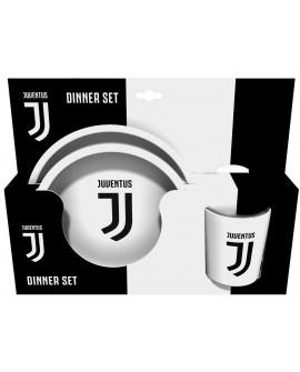 Set Gift piatto piano + fondo + bicchiere Juventus - JUVSET3