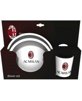 Set Gift piatto piano + fondo + bicchiere Milan - MILSET3