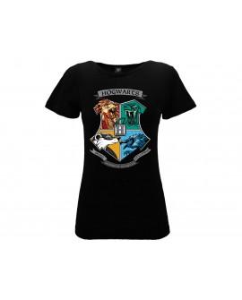 T-Shirt Harry Potter Casate Hogwarts Donna - HP19L.NR