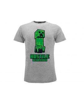 T-Shirt Minecraft Hostile Behaviour - MC11.GRM