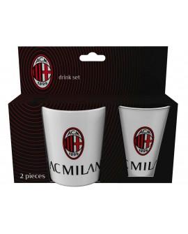 Set Gift tazza + bicchiere in plastica Milan AC - MILSET1