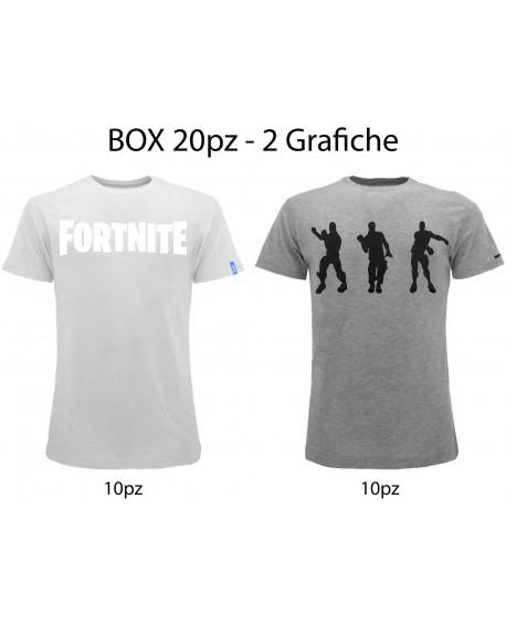 Box 20pz T-Shirt Fortnite 2 Grafiche - FORT8