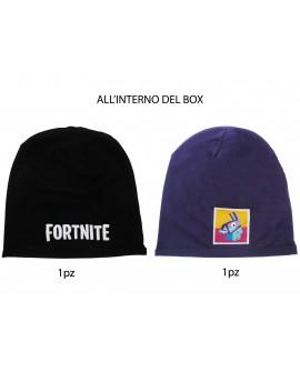 Box 2pz Berretto Fortnite Logo e Lama - FORTBER1