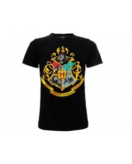 T-Shirt Harry Potter Stemma Hogwarts - HP1.NR