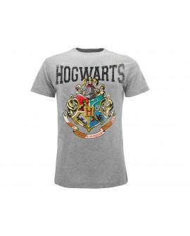 T-Shirt Harry Potter Stemma Hogwarts vintage - HP12.GR