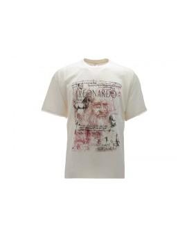 T-Shirt Turistica Leonardo Volto - ARTLVOL.BEJ