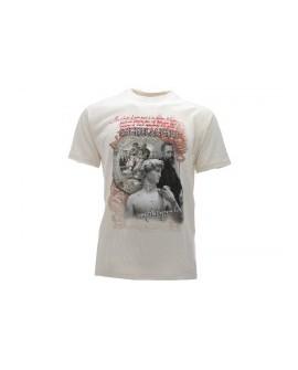 T-Shirt Turistica Michelangelo Volto - ARTMICVOL.BEJ