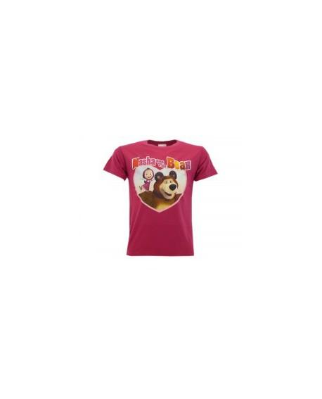 T-Shirt Masha e Orso Cuore - MASC.FX