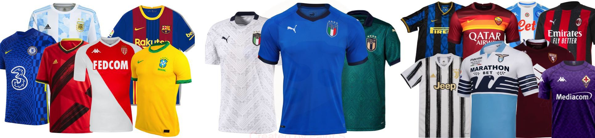 vendita online t-shirt calcio